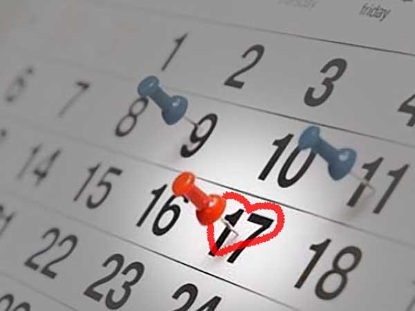 Calendario para reservar fecha de boda