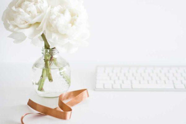 Rosas blancas para ramo de bodas
